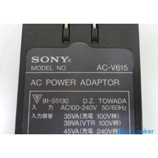 ソニー ACパワーアダプタ(充電器) AC-V615、DCケーブル(DK-415) ジャンク SONY ☆ PayPay(ペイペイ)決済可能 ☆
