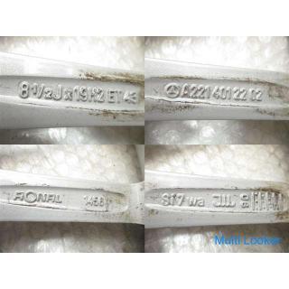 H21 ベンツ W221 S550 AMG (1) アルミホイール 19インチ