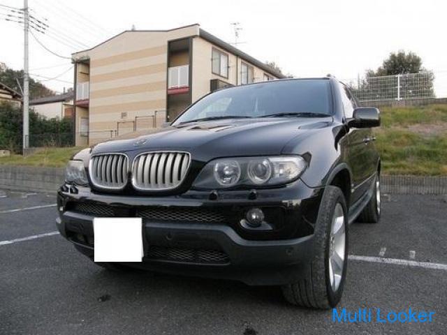 H17 X5 4.4i 黒本革シート サンルーフ 4WD ポータブルナビ