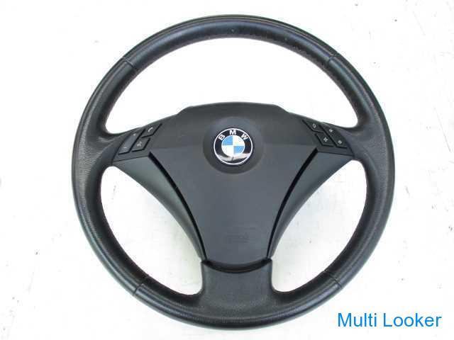 BMW5 NE25 E60 純正 黒革 ハンドル センターパット付