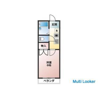 家具家電付き物件。JR総武線 千葉駅 バストイレ別。