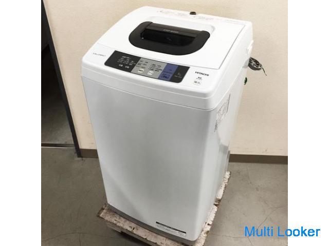 中古☆HITACHI 洗濯機 2017年製 5.0K