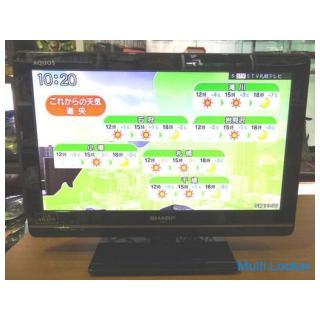 映像・テレビ◆SHARP/シャープ◆AQUOS LC-19K7 液晶TV 2012年製 リモコン B-CASカード付き アクオス 動作品 中古