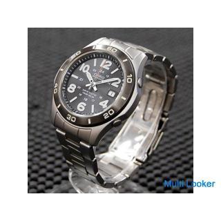 カシオ オーバーランド OVW-110 ソーラー電波 メンズ 3針 デイト 腕時計