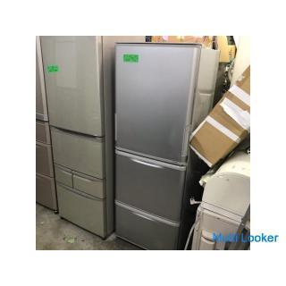 地域限定送料無料 シャープ3ドア冷蔵庫 SJ-WA35Y-S
