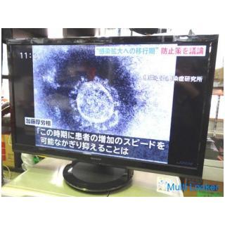 TV◆SHARP/シャープ◆AQUOS 液晶カラーテレビ 2T-C24AD 2019年製 動作OK 中古