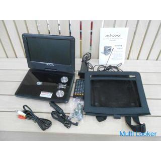 AIVN 9インチ ポータブル DVDプレーヤー 1SEG RV900 WREC テレビ リモコン付き