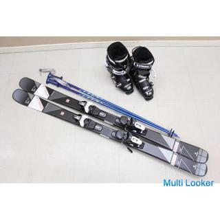 19年秋冬モデル STREULE スキー板ビンディング付属 20 ST-C1 150cm スキーブーツ モンキー グライドブラック 使用回数2回(P860aawxYGG)