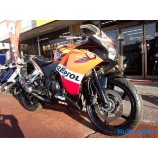ホンダ CBR250R ABS付き 水冷4サイクルシングル250cc FI車 ヨシムラマフラー レプソルカラー