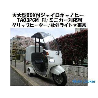 ★大型BOX付ジャイロキャノピーTA03(4サイクル)PGM-Fi/グリップヒーター/社外ライト/ミニカー対応可★
