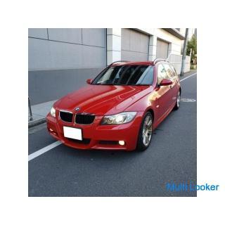 BMW320Mスポツーリング H21 車検4年3月 走行75000キロ 社外2DINナビ&地デジTV&バックカメラ 純正エアロ&専用17AW コンフォートアクセス キセノン 禁煙車