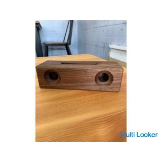 木製 iPhone用 スピーカー ウォールナット