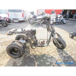 ホンダ HONDA ジャイロX TD01 ディスクブレーキ ワイドタイヤ パーツ取り レストアベース バイク