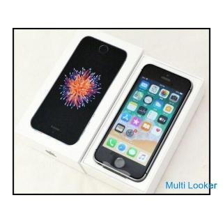 未使用 SIMロック解除済 iPhoneSE 32GB スペースグレイ MP822J/A UQ 〇判定 バッテリー状態 100%