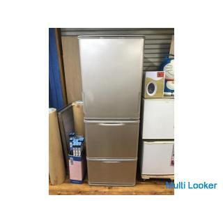☆SHARP シャープ 3ドア350L冷蔵庫 SJ-WA35X 2013年製 日本製 どっちもドア