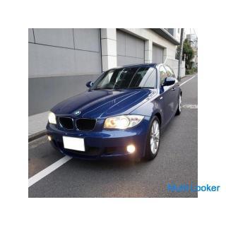 BMW116Mスポ 社外2DINナビ&フルセグTV ドラレコ ETC 純正エアロ&専用17AW キセノン ハーフレザースポーツシート