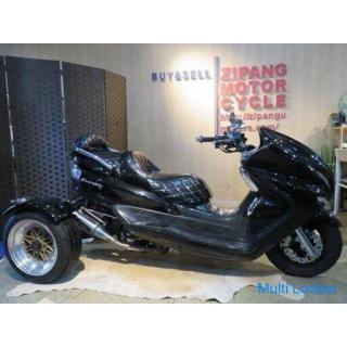YAMAHA MAJESTY TRIKE ヤマハ マジェスティ トライク 26968km ブラック 250cc 自賠R5.5 トライクカスタム 実動! バイク 札幌発