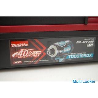 新品 makita 40V max 充電式インパクトドライバ TD001GRDX ブルー 2.5Ah 充電器・バッテリ2個付属 マキタ 電動工具