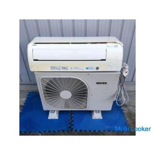 【三菱重工】 ミツビシ ビーバ ルーム エアコン 冷房9畳 暖房7畳 プラズマ4Dイオン SRK22TM-W 2011年製
