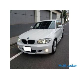 BMW116 Mスポーツ H18 車検5/7 走行58000キロ 社外HDDナビ&フルセグTV ETC 専用エアロ&17AW ハーフレザーシート キセノン