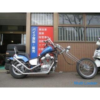 HONDA STEED 400 MC26 ホンダ スティード400 ロングフォーク 400cc 1998年式 10431km ブルーメタリック 実動! アメリカン バイク