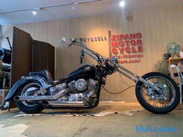 ヤマハ ドラッグスター400 400cc アメリカン フルカスタム 希少 超ロングフォーク 書類あり 名変可能 札幌発