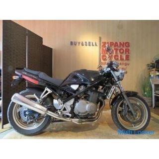 超希少! ワンオーナー! お宝! SUZUKI BANDIT 400 GK75A スズキ バンディッド400 400cc 6283km ブラック 実動! バイク コレクションにも! 札幌発