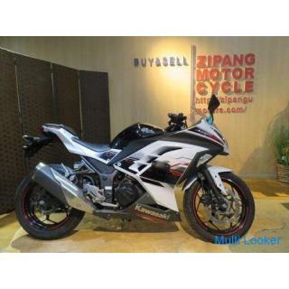 カワサキ KAWASAKI ニンジャ250 NINJA250 JBK-EX250L 250cc 2014年式 4327km パールホワイト バイク