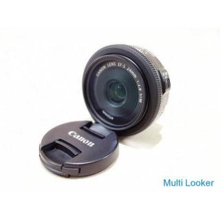 【苫小牧バナナ】キャノン/Canon 単焦点 交換レンズ 薄型パンケーキレンズ EF-S24mm F2.8 STM 中古 レンズフィルター付き 動作OK♪