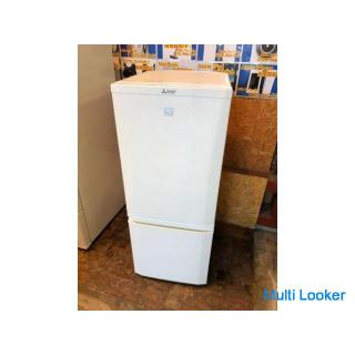 【動作保証60日間あり】MITSUBISHI keyword 2018年 MR-P15EC 146L 2ドア冷凍冷蔵庫