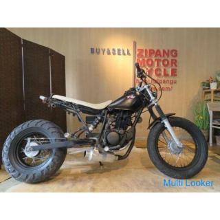 YAMAHA TW200 2JL ヤマハ ブラック 200cc ロンスイスカチューン 自賠R5.8 実動! バイク