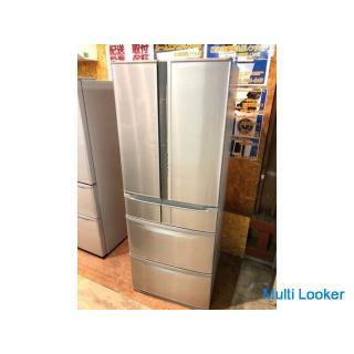 【動作保証60日付】HITACHI 2010年 R-SF52AM 520L 6ドア冷凍冷蔵庫 真空チルド