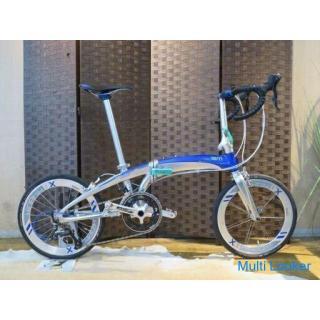 TERN VERGE X18 ターン ヴァージュ X18 美品 シルバー 20インチ 18速 アルミフレーム タイヤバリ山! 折畳み自転車 自転車 札幌発