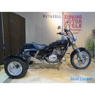 MOTOR CYCLE ZHM-3L 中華トライク モーターサイクル 110cc 50km マグナ風 ブラック パーツ取り 部品取り車 ベース車 バイク 札幌発