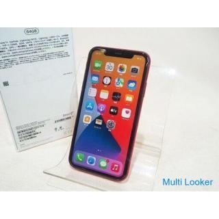 【苫小牧バナナ】Apple/アップル MWLV2J/A SIMフリー iPhone11 プロダクトレッド 64GB バッテリー最大容量100% 動作OK