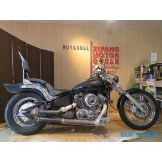 YAMAHA DRAG STAR DS400 4TR ヤマハ ドラッグスター 400cc 18528km ブラック 実動! ラットカスタム アメリカン バイク 札幌発