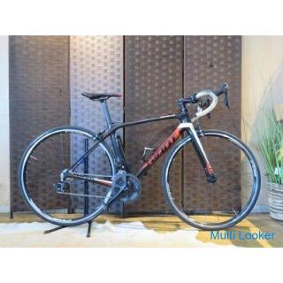 GIANT TCR ADVANCED 2 ジャイアント TCR アドバンスド 2 Sサイズ 20速 カーボン 2009年 シマノ 105 ブラック ロードバイク 自転車 札幌発