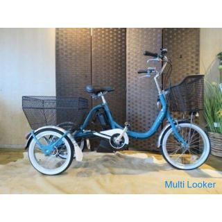 YAMAHA PASワゴン PA16W ヤマハ パスワゴン 2020年 ブルー 内装3段 18インチ カゴ 充電器付 三輪車 電動アシスト自転車 自転車