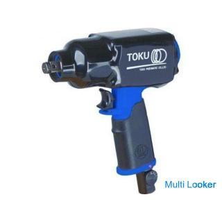 【苫小牧バナナ】開封未使用品 TOKU/東空 軽量・小型 エアーインパクトレンチ 1/2 MI-16M ブルー